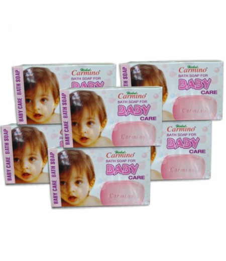 Carmino Herbal Baby Soap - Pack Of 6