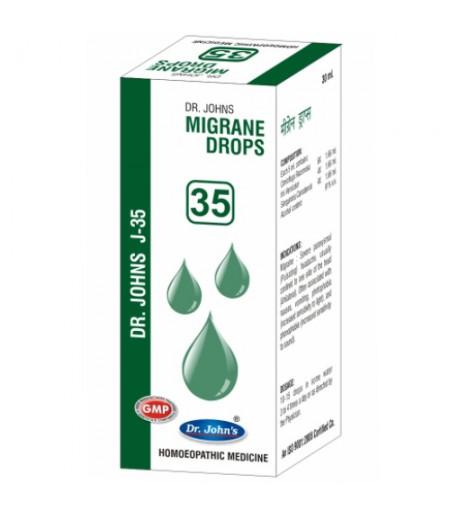 J35 - Migrane Drops (30 ml)